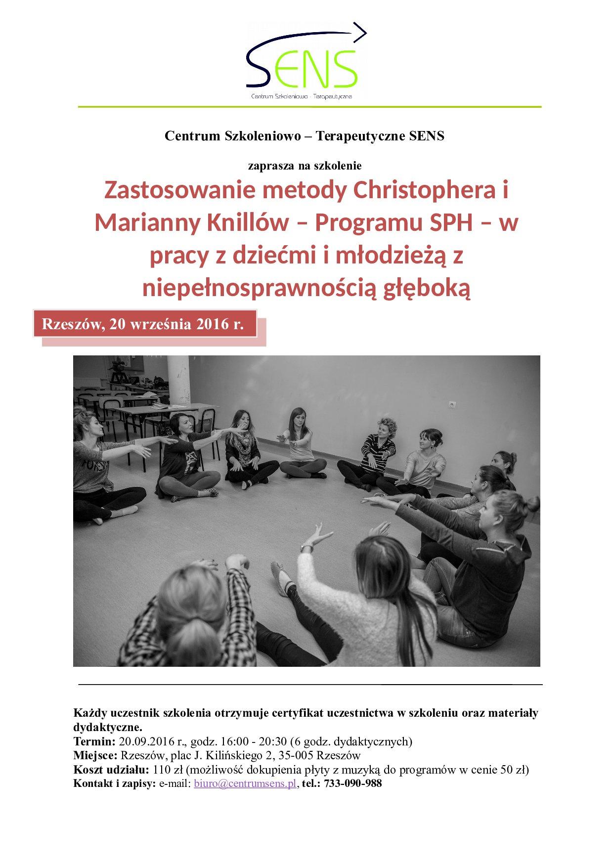 Rzeszów! Metoda Knillów Program SPH