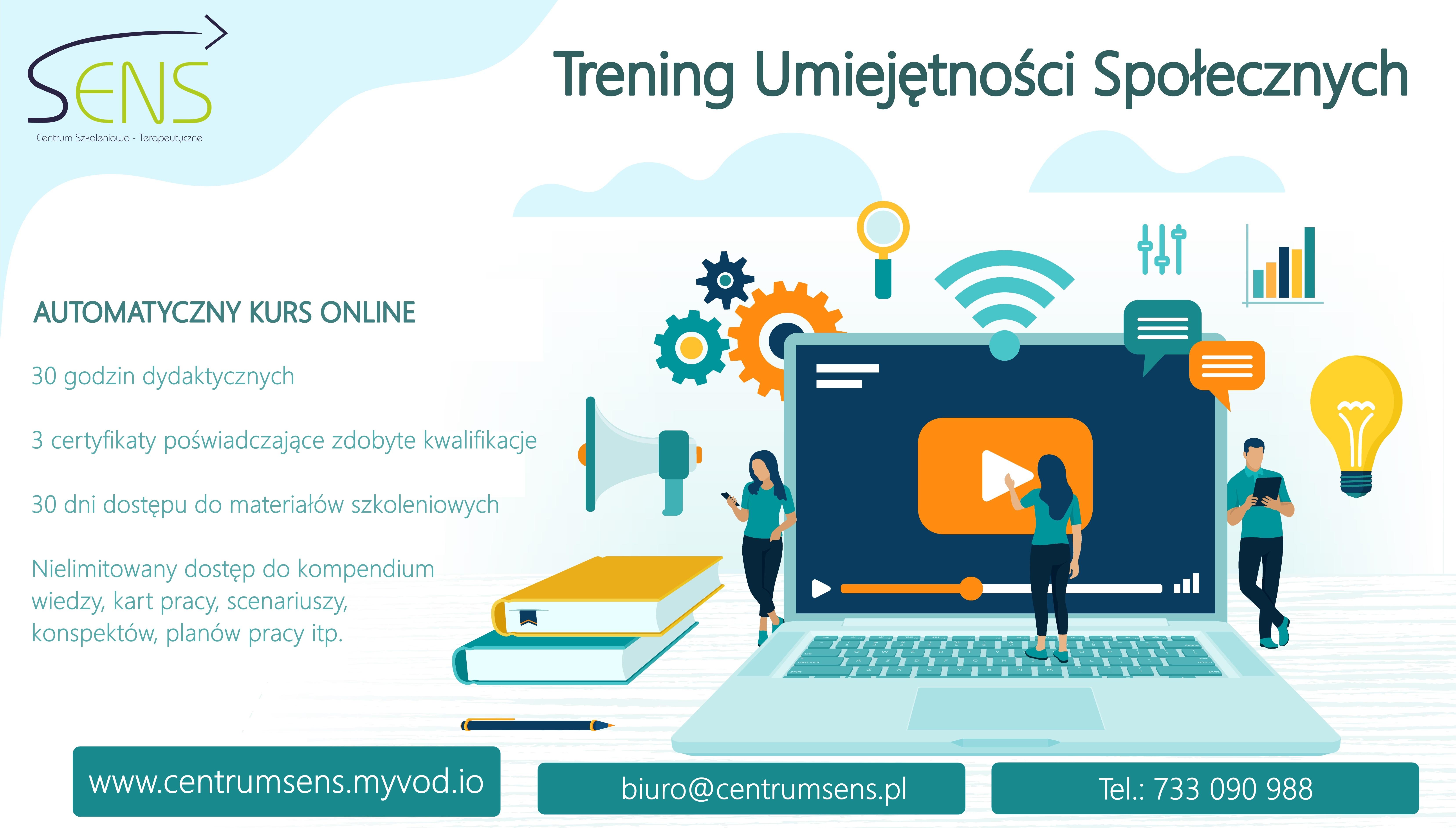 Kurs Trening Umiejętności Społecznych. Kurs online.