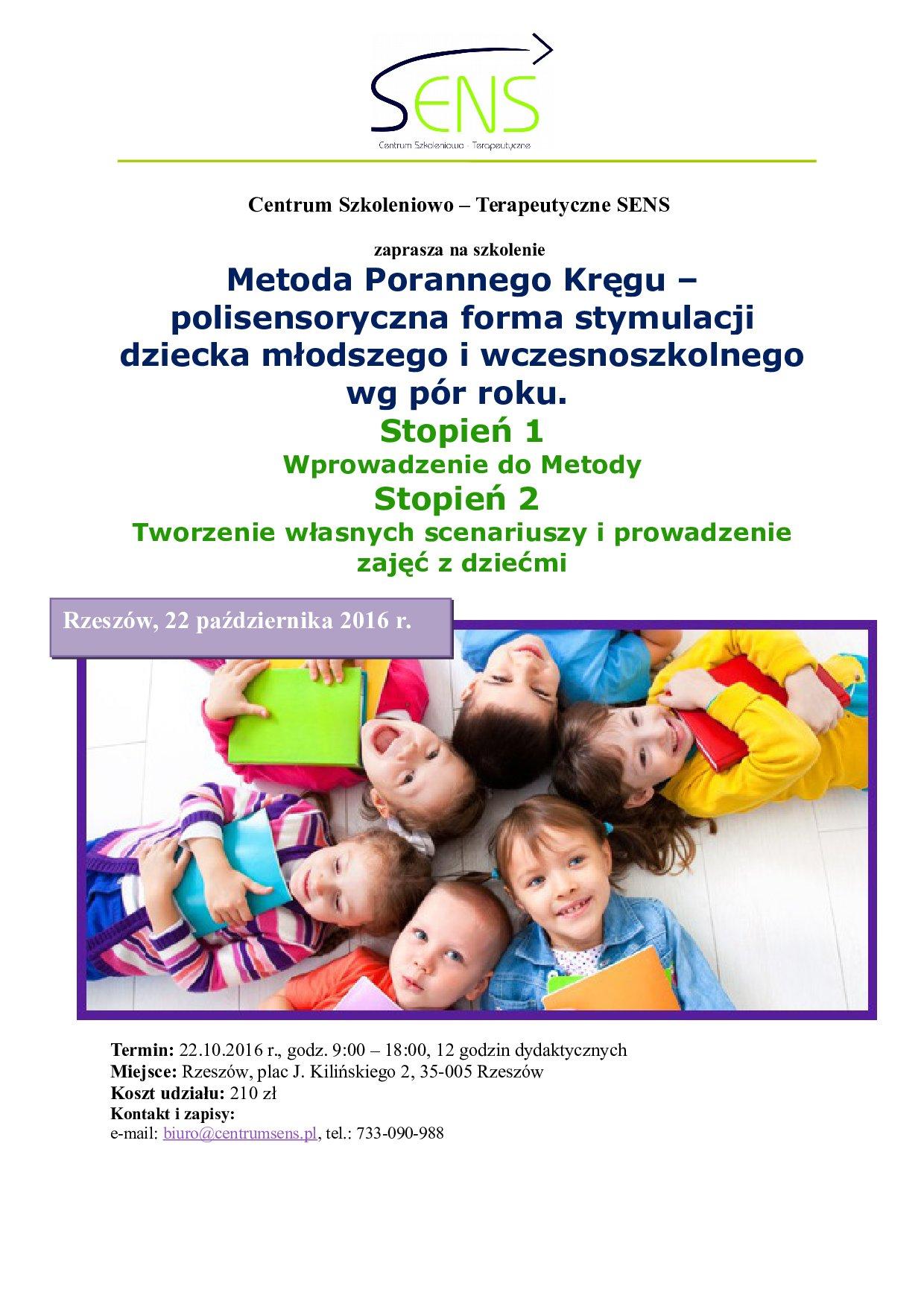 Rzeszów. Metoda Porannego Kręgu. 22.10.16 r.