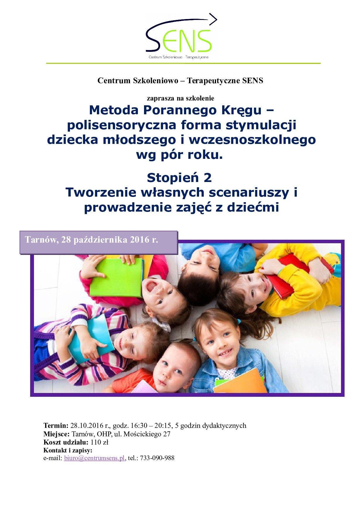 Tarnów. Poranny krąg część 2. 28.10.16 r.