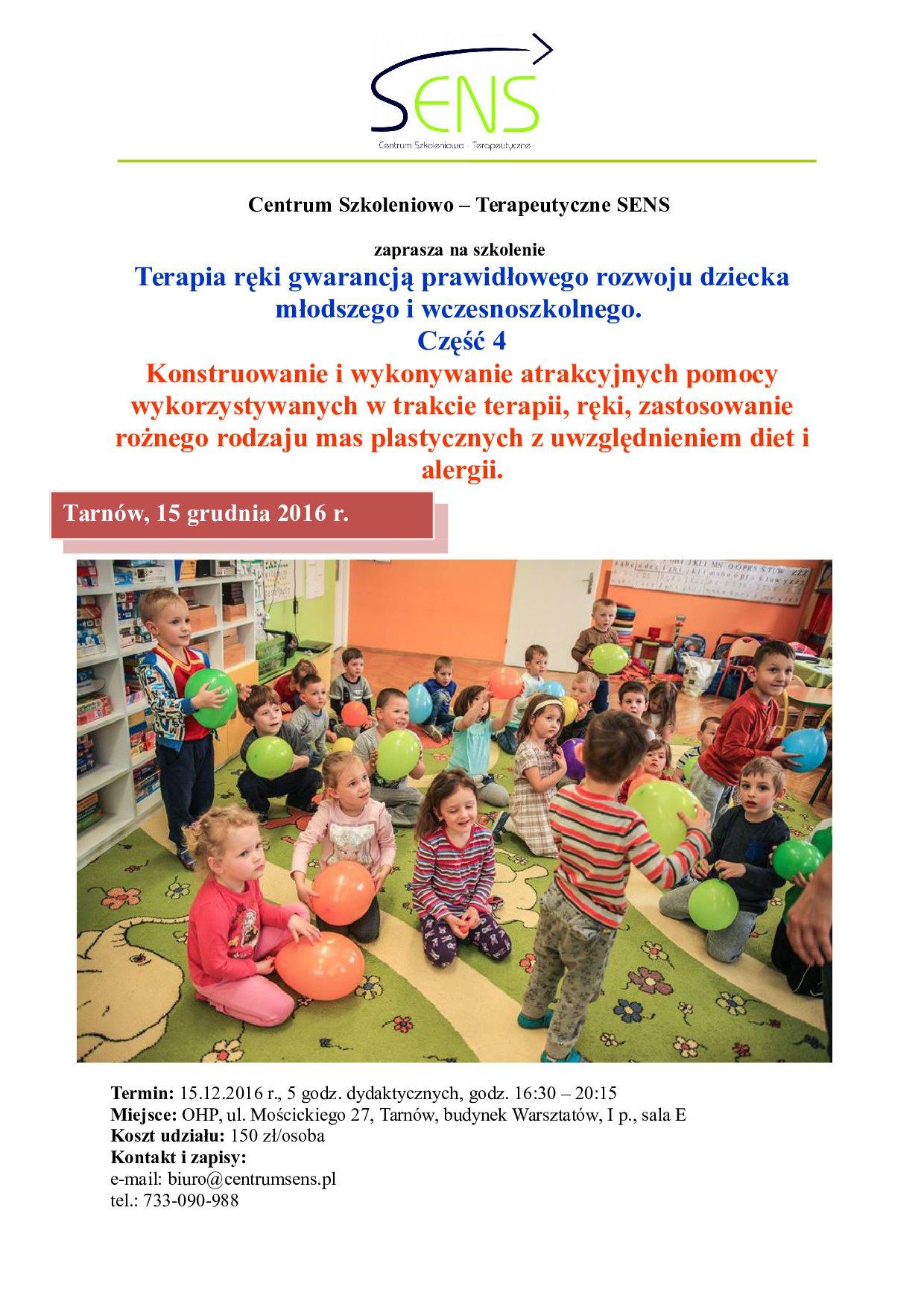 Tarnów. Terapia ręki cz. 4. 15.12.16 r.