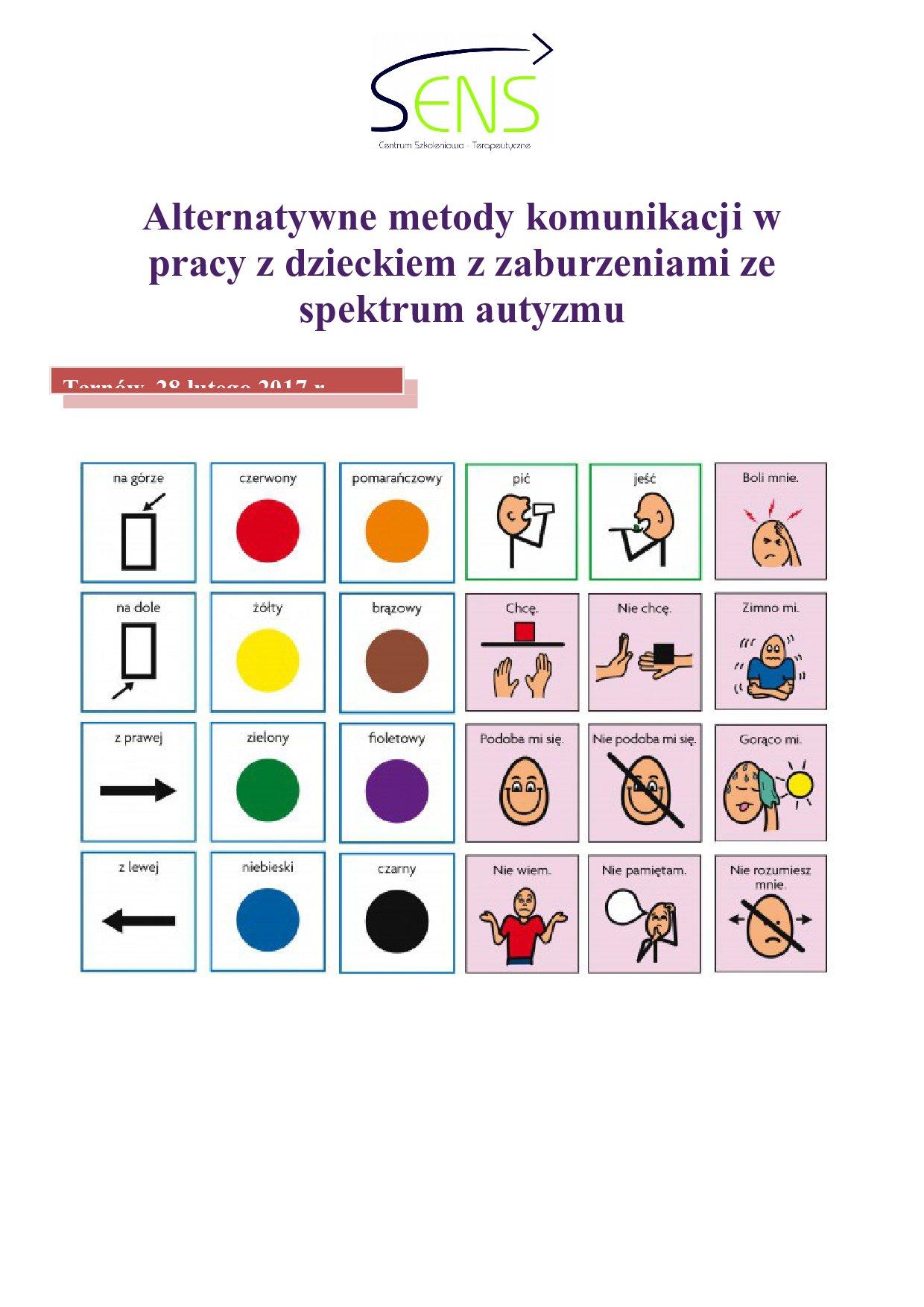 Tarnów. Alternatywne metody komunikacji. 28.02.2017 r.