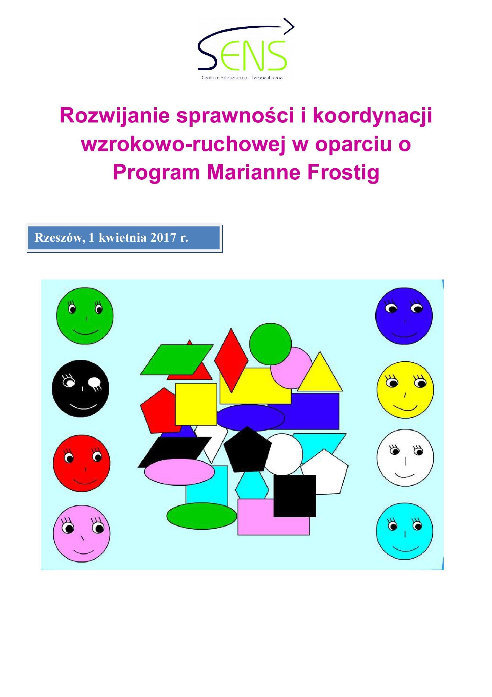 Rzeszów. Metoda Marianne Frostig. 01.04.2017 r.