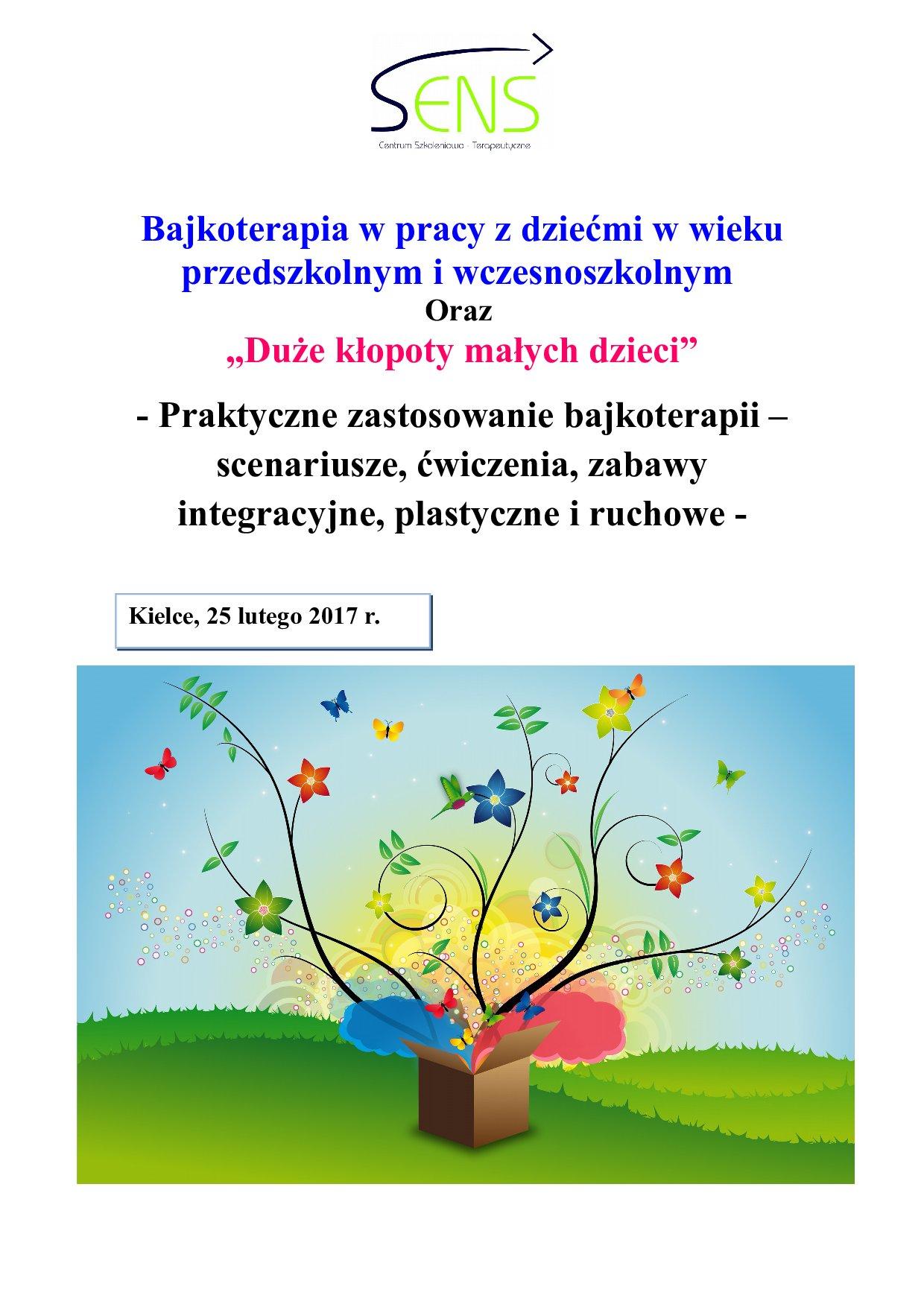 Kielce. Bajkoterapia. Szkolenie i warsztaty. 25.02.2017 r.