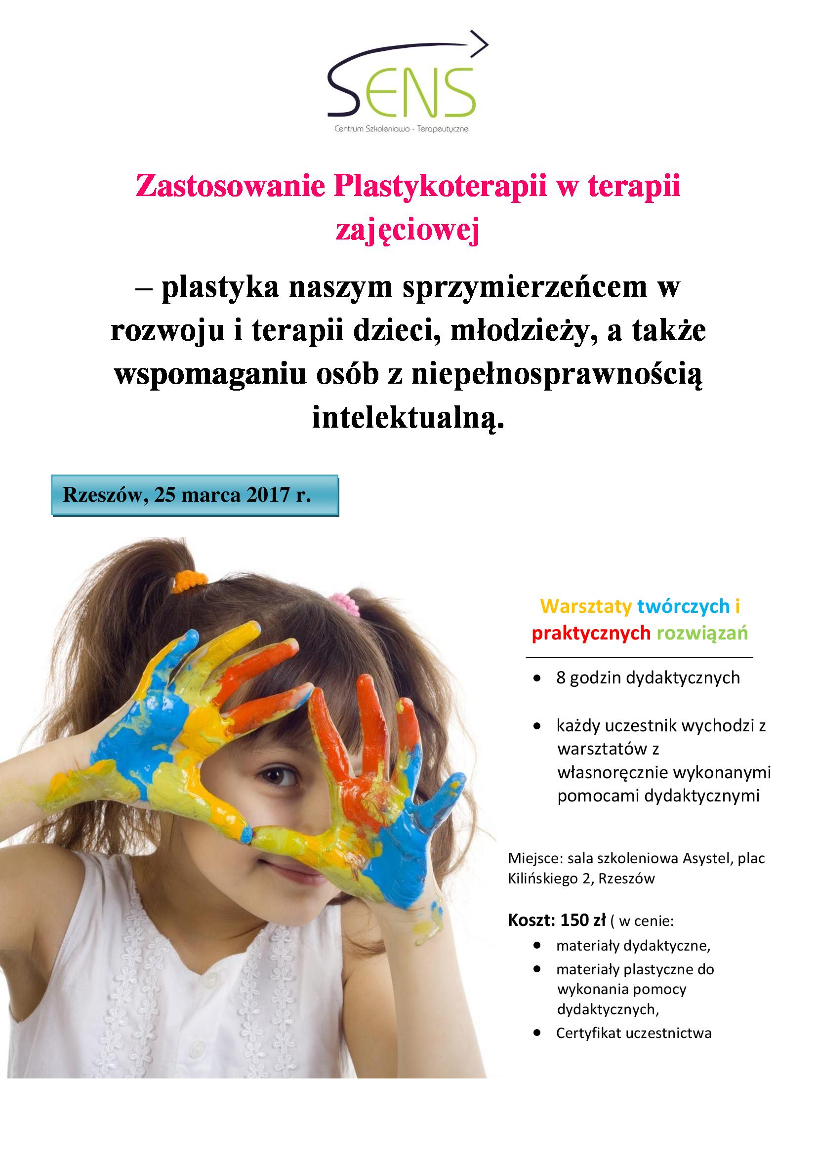 Rzeszów. Plastykoterapia. Warsztaty. 25.03.17 r.